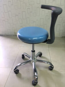Adjustable Mobile Dental Doctor Nurse Stools Medical Seat Chair Pu Leather Usa