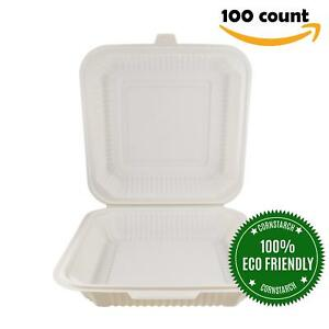 Food Containers By Helogreen Takeout To go Containers Hinged Compostable