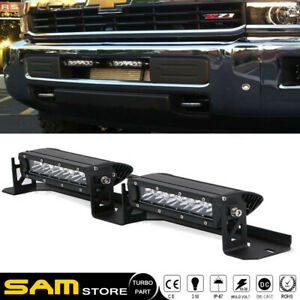 Dot Approved Led Light Bar Fog Lamps Fit 2015 2017 Chevy Silverado 2500 3500 Hd
