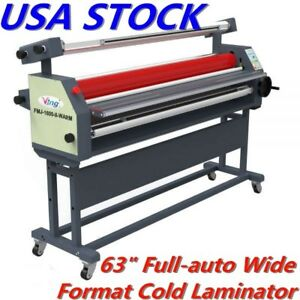 63 Full auto Heat Assisted Cold Laminator Wide Format Roll Laminator With Stand