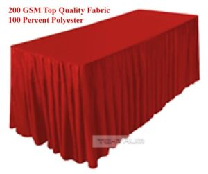 Tektrum 6 Ft Long Fitted Table Skirt Cover For Trade Show Thick heavy