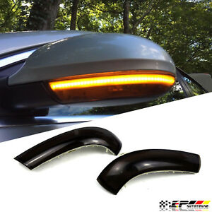 Euro Smoked Side Mirror Sequential Turn Signal Light Fits Vw Eos Jetta Passat B5