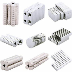 Lots 5 100pcs Strong N35 Magnets Neodymium Cube Disc Ring Square Machinery Tool