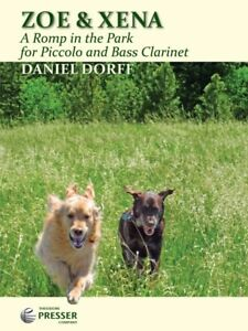Zoe & Xena A Romp In The Park For Piccolo And Bass Clarinet MUSIC BOOK-NEW!!