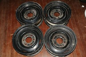Oem Apache C10 Chevy Truck Rims Pickup 3100 5x5 Truck 6 Lug 15 Steel Wheels