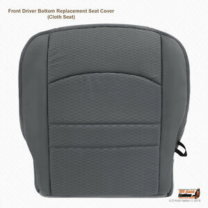 2016 2017 2018 Dodge Ram 1500 2500 3500 Driver Side Bottom Gray Cloth Seat Cover