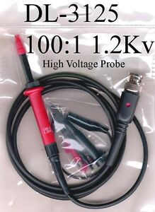 High Voltage Probe Kit Dl 3125 High Voltage Test Probe For Dc To 1200 Volts