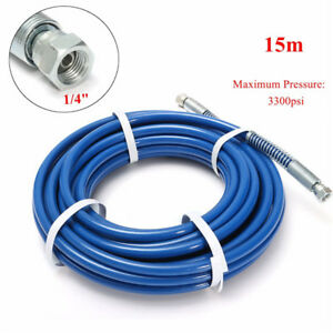 15m 3300psi 1 4 Inch Airless Paint Spray Hose Tube For Wagner Titan Sprayer