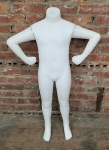 3 Foot Plastic Headless Child Size Mannequin W Magnetic Arms No Stand