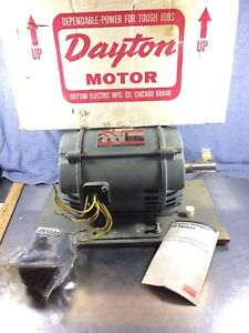 Dayton 3 Phase Electric Motor 5hp Industrial Duty 200 460 Volts Model 3n669a