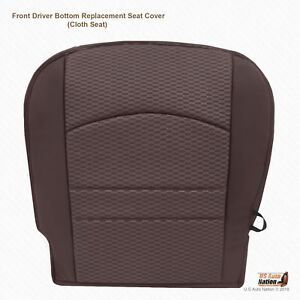 2013 2014 2015 Dodge Ram 1500 2500 3500 Driver Bottom Fabric Seat Cover In Brown