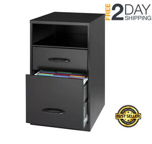 File Cabinet 2 Drawer Vertical Home Office Storage Supplies Furniture Small New