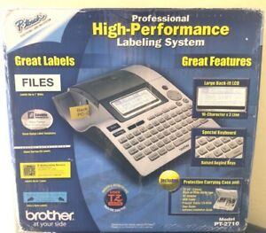 Brother Pt 2710 Thermal Professional Label Printer maker Very Good Complete