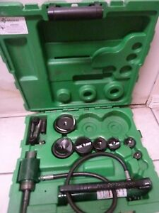 Greenlee 767 Hydraulic Knockout Punch Sets 1 2 To 3 1 2 With Case