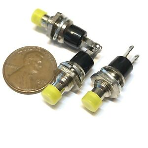 3 Pieces Nc Yellow Normally Closed Mini Push Button Momentary Off On Switch A2