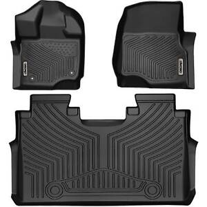 Oedro Floor Mats Liners Unique Black Tpe For 15 21 Ford F 150 Supercrew Cab