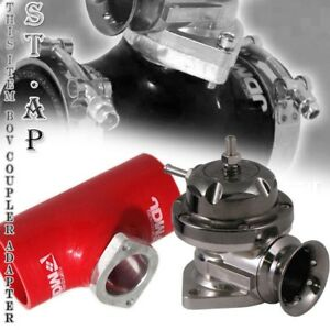 Turbo Blow Off Valve Bov Type Rs Gunmetal 3 Inch Reinforce Silicone Adapter Red