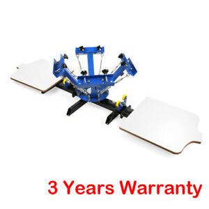 4 Color 2 Station Silk Screen Printing Machine Diy T shirt Fabric Printing Usa