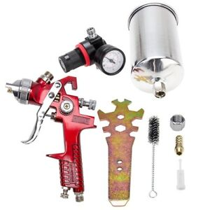 Hot 1 4mm Hvlp Gravity Spray Gun Automotive Paint Primer Sprayer Gauge Tool Kit