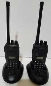 2 Relm Bk Rpv599aplus 99 Channel Vhf Alpha Numeric Fpp Portable Radio W Bases 2