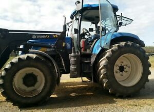2010 New Holland T6070 Diesel 4wd Elite Cab Tractor Excellent Condition