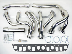 Stainless Exhaust Manifold Header W Y Pipe Fits Jeep Wrangler Cherokee 91 99