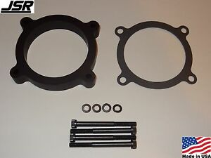 11 17 Mustang Gt 5 0 Throttle Body Intake Spacer Plate 3 4 Inch X 80mm Black
