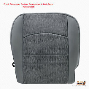 2013 2014 2015 Dodge Ram Slt Passenger Bottom Replacement Seat Cover Color Gray