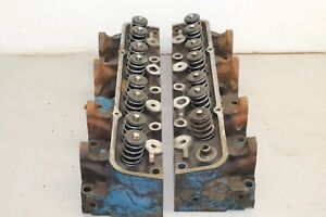Ford Fe 332 352 360 390 427 Cylinder Heads Pair C8ae H
