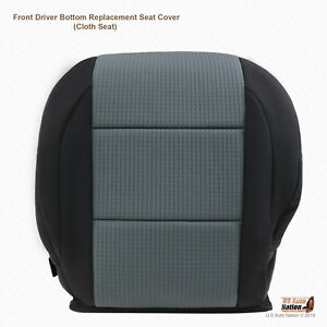 Black gray Cloth Replacement Cover For Front Driver Fits 2006 Nissan Titan Se