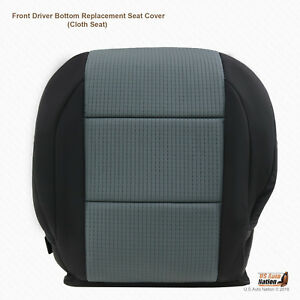 Front Driver Bottom Black gray Cloth Seat Cover Fits 2005 2007 Nissan Titan