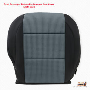 Front Right Bottom Replacement Seat Cover Black gray For 2006 Nissan Titan Se