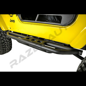 Rock Crawler Side Armor Rocker Slider Guard side Step For 97 06 Jeep Wrangler Tj