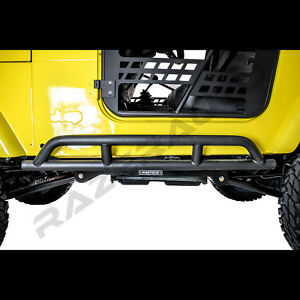 1pair Of Rock Crawler Side Armor Rocker Slider Guard For 97 06 Jeep Wrangler Tj