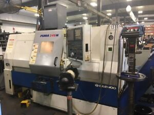 Used 2005 Daewoo Puma 240 mc Live Tool Cnc Turning Center Lathe Doosan Tailstock