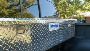 Truck Bed Storage Box Aluminum Low Profile Toolbox Organizer Full Size Compact