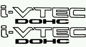 I Vtech Dohc Honda Decal Stickers Set Of 2 Civic Accord Prelude Crx Si Acura Jdm