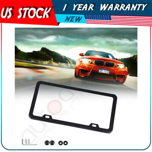 1x Narrow Brim Carbon Fiber Style License Plate Frames For Front