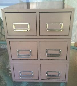 Vtg 3pc steelmaster Stackable Metal File Card Cabinets 16 x12 25 x15 5 Overall