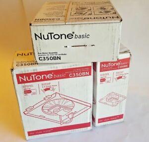 Lot Of 3 Nutone Basic C350bn Fan Motor Assembly 50 Cfm 4 0 Sone Replacement 696n
