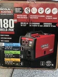 Lincoln Electric K2515 1 Weld Pak 180hd 180 Amp Mig Wire Feed Welder New