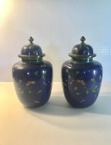 Pair Of Antique Early 20th Century Chinese Cloisonn Vase