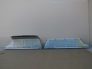 1961 Pontiac Chrome Grill Pair Left Right Catalina Ventura Grand Prix Bonneville