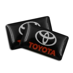 For Toyota 4 X Emblem Sticker 18mm X 10mm 3d Logo