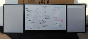 Wood Conference Room Cabinet Dry erase cork Board 96 X 32 Mahogany