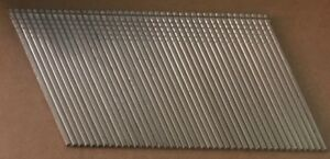 1 1 2 16 Gauge Stainless Steel Angle Collated Finish Nails Simpson S16n150pfn