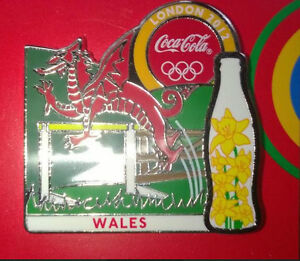 LONDON 2012 OLYMPIC GAMES COCA - COLA WALES PIN BADGE