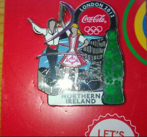 LONDON 2012 OLYMPIC GAMES COCA - COLA NORTHERN IRELAND PIN BADGE