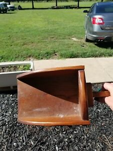 Antique Primitive Wood Grain Scoop Farm Candle Holder Chamber Stick Wall Sconce