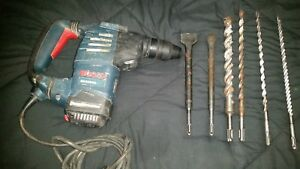 Bosch 1 1 8 in Sds plus Rotary Hammer Rh328vc Free Bits Chisels Free Shipping
